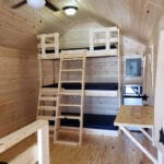 Boo Boo's Bungalow interior - Triple-decker Bunk Beds